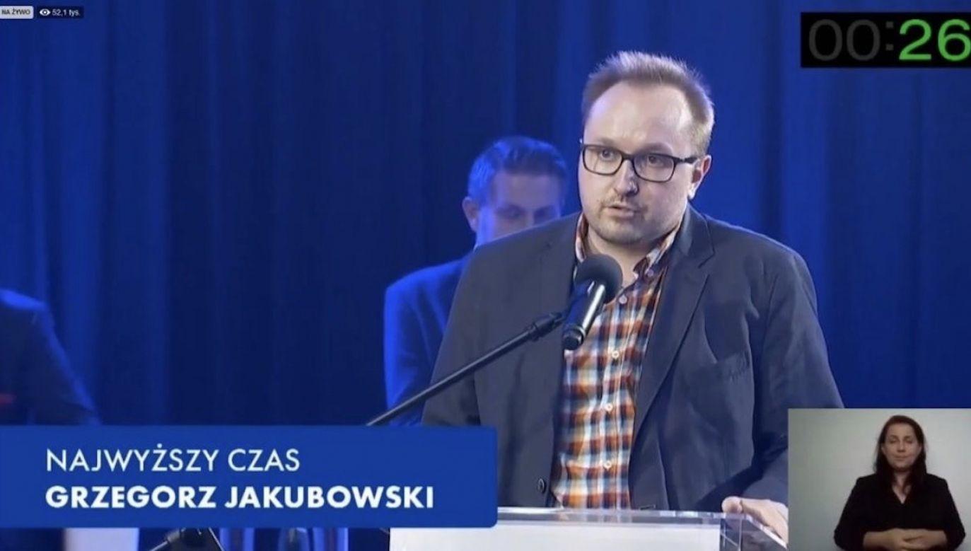 Grzegorz Jakubowski (fot. screen TVN24)