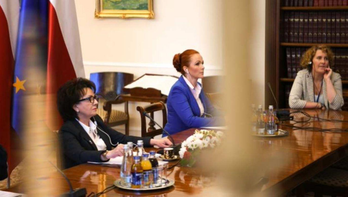 Marszałek Sejmu wzięła udział w Konferencji Przewodniczących Parlamentów UE (fot. Twitter/Kancelaria Sejmu)