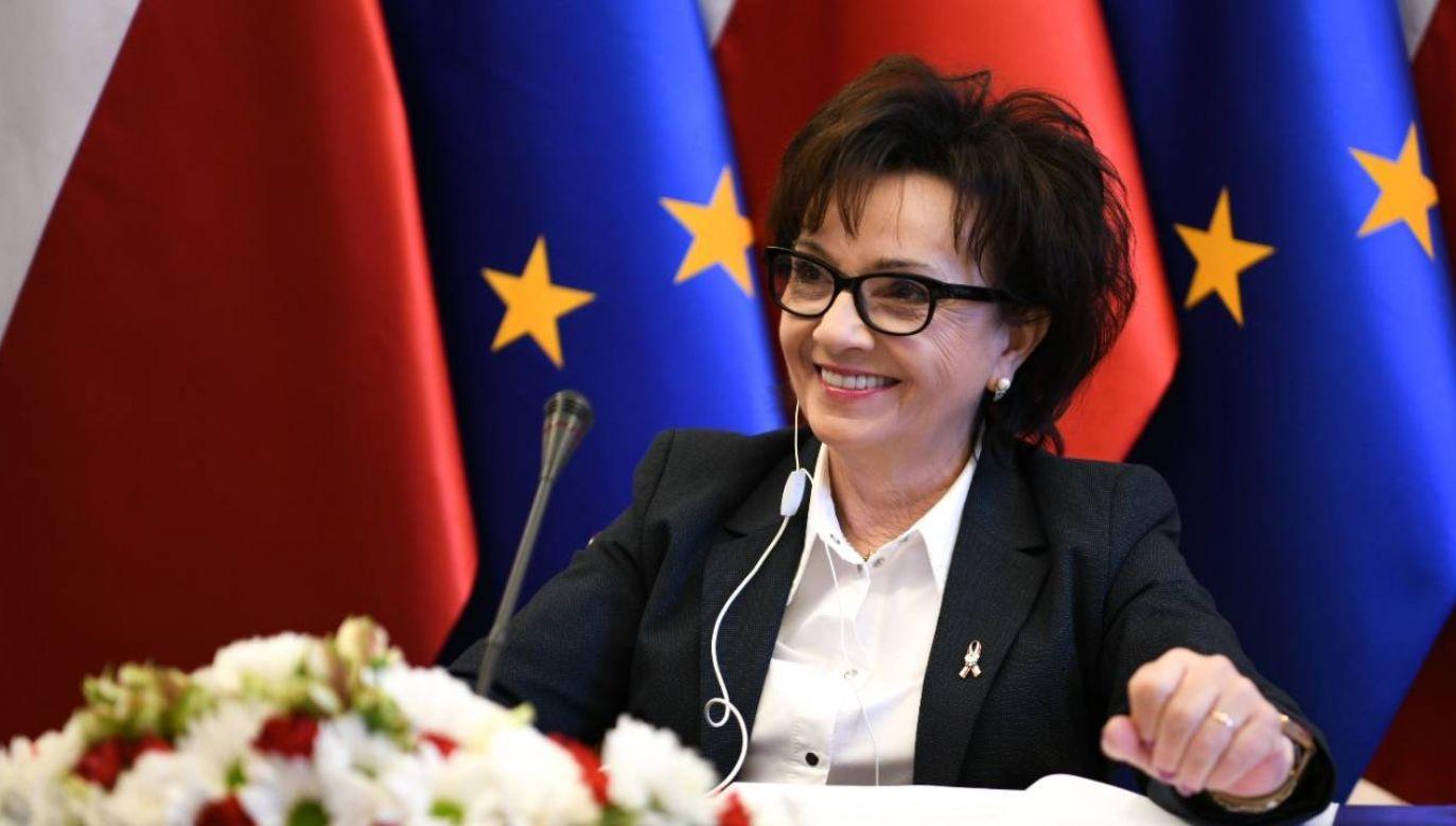 Elżbieta Witek (fot. Twitter/KPRM)