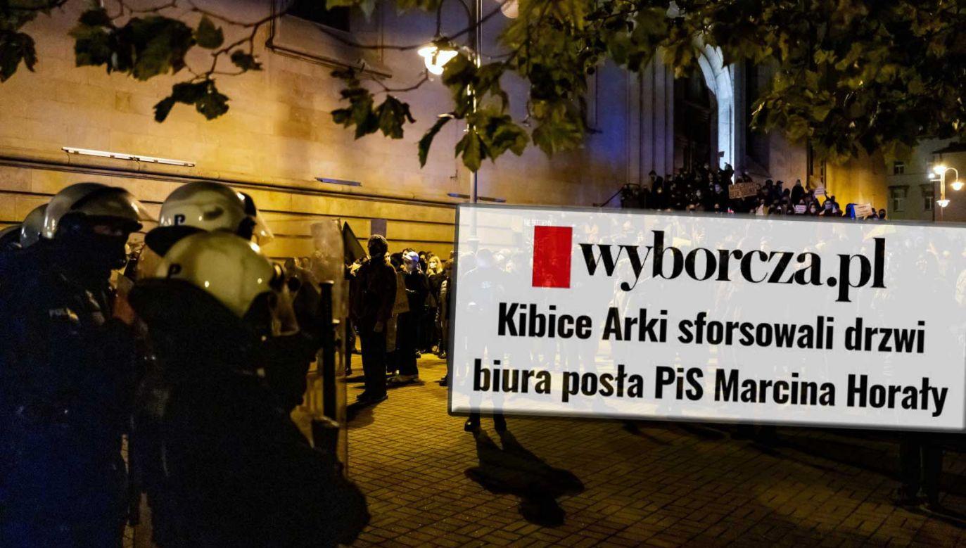 """""""Gazeta Wyborcza"""" informowała, że to kibole odpowiadają za atak w Gdyni (fot. PAP/Andrzej Grygiel)"""