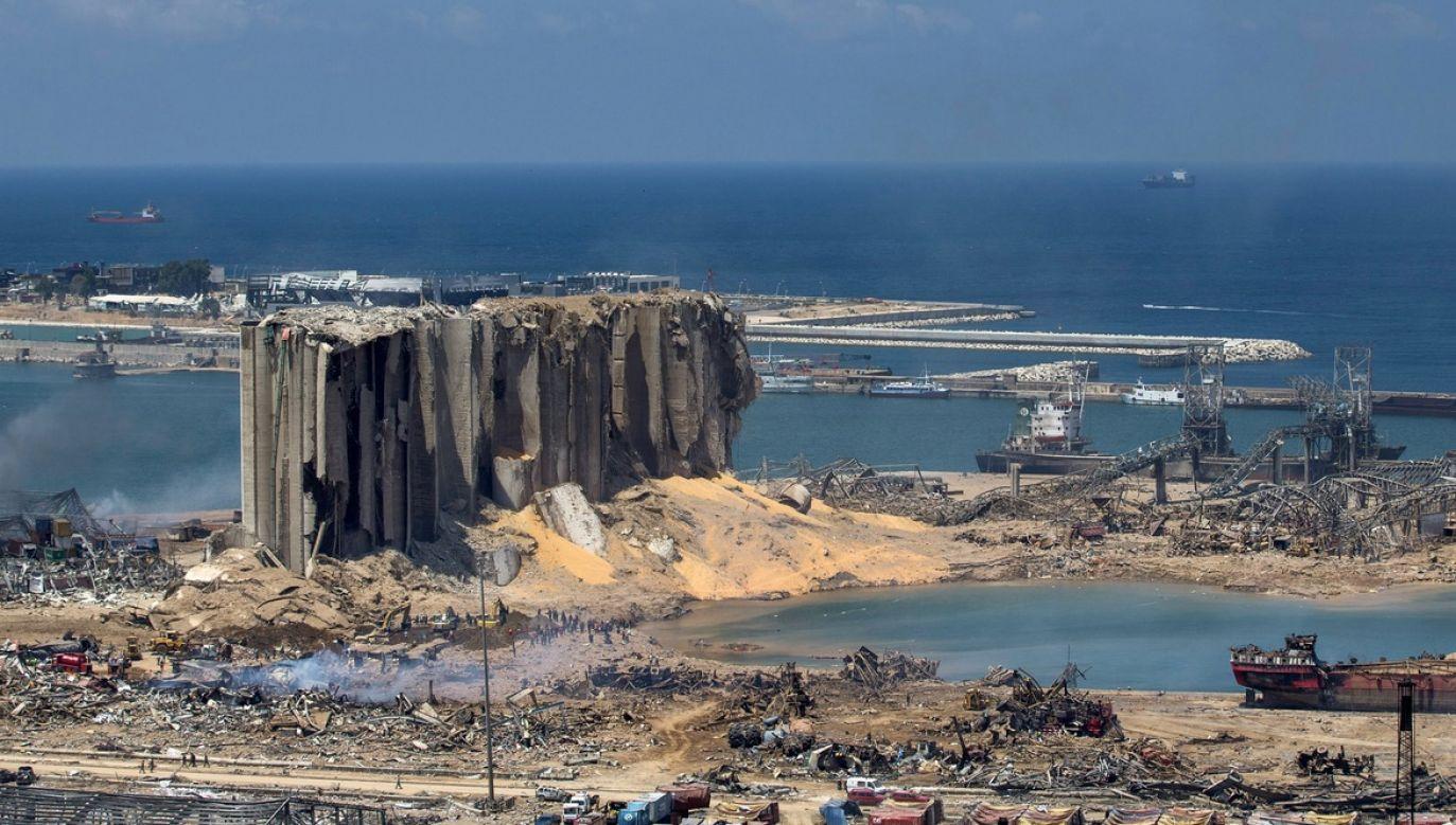W Bejrucie doszło do gigantycznej eksplozji (fot. Daniel Carde/Getty Images)