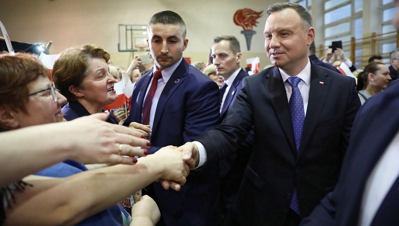 Chciałbym, żeby Polska była atrakcyjna, chciałbym, żeby była państwem spokojnym – mówił w Garwolinie prezydent Andrzej Duda (fot. PAP/Leszek Szymański)