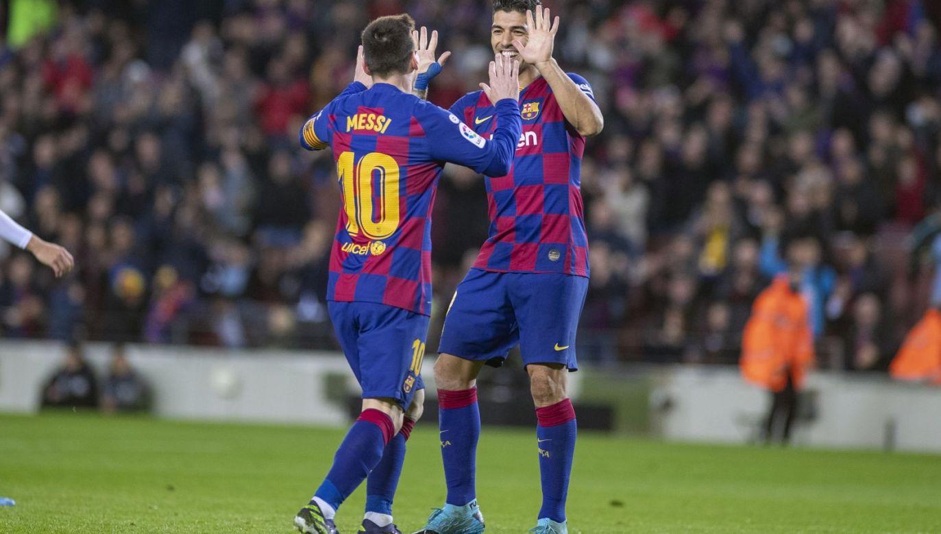 Leo Messi i Luis Suarez (fot. Getty Images)