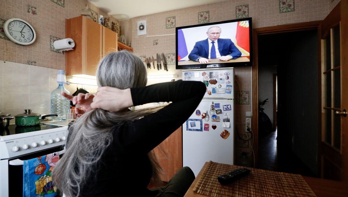 Putin zwrócił się do obywateli w telewizyjnym orędziu (fot. PAP/EPA/ANATOLY MALTSEV)