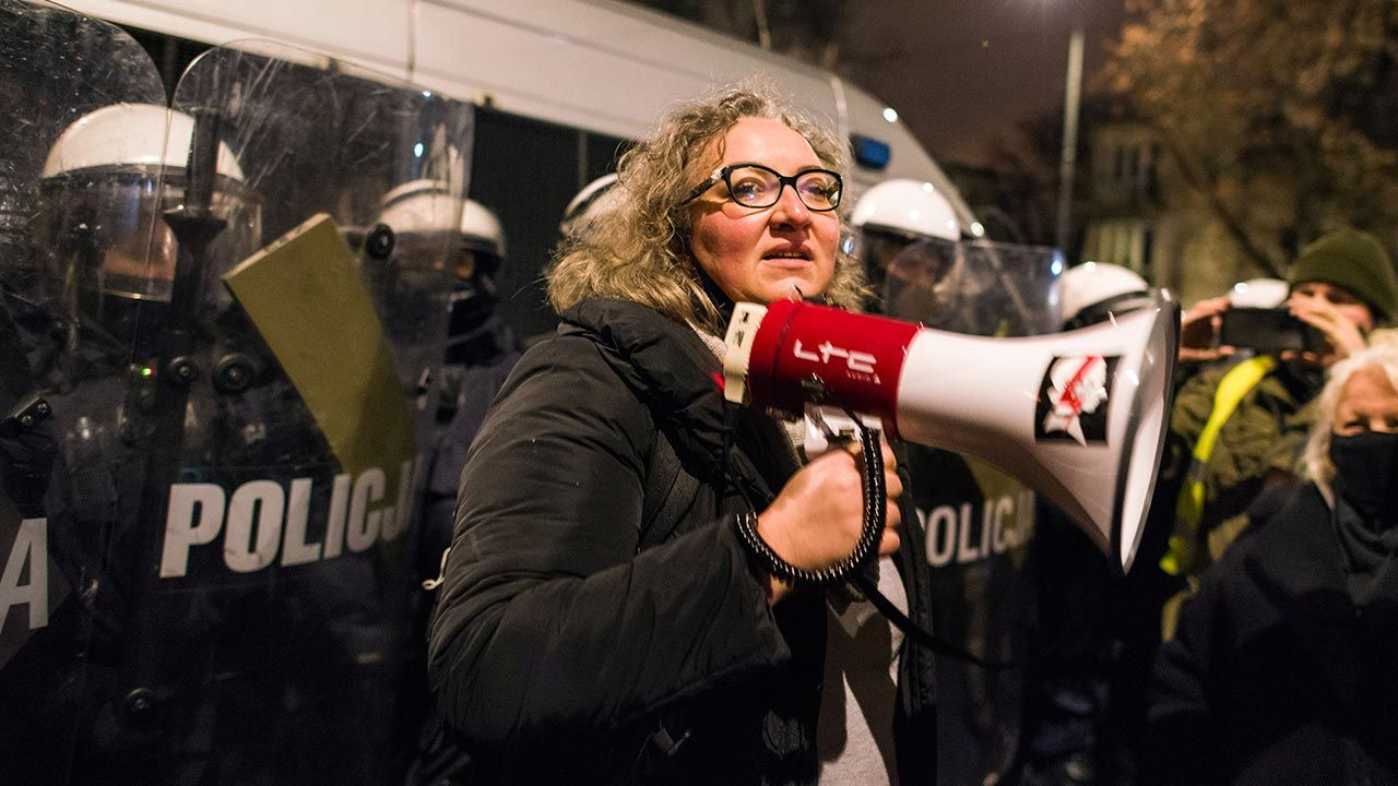 """Marta Lempart mówi, że dostaje """"różne przesyłki"""" (fot. Attila Husejnow/SOPA Images/LightRocket via Getty Images)"""