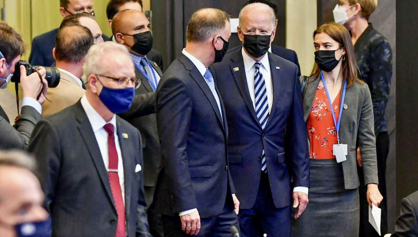 Andrzej Duda i Joe Biden na szczycie NATO w Brukseli (fot. PAP/MON/Wojciech Król)