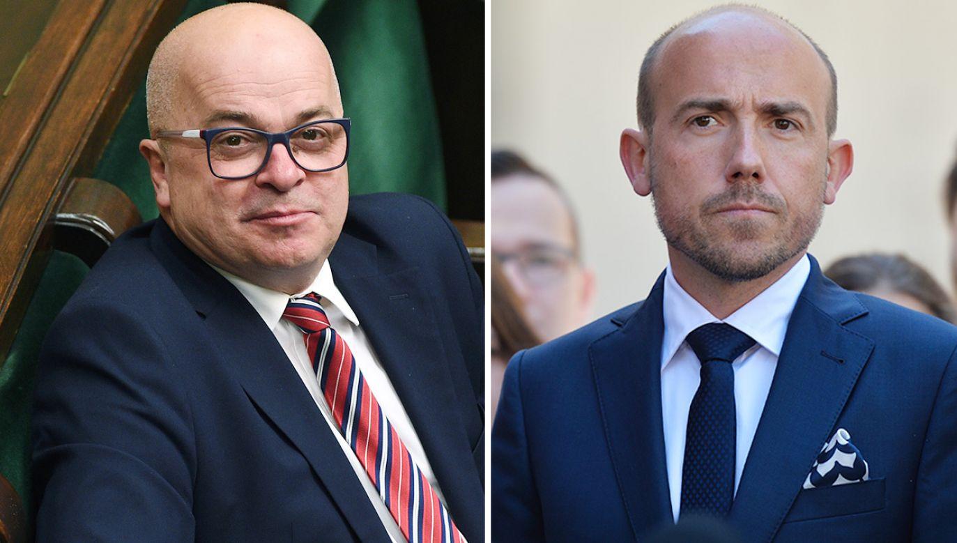 Poseł niezrzeszony Tomasz Zimoch, którego szef PO Borys Budka określił mianem celebryty (fot. Forum; Getty Images)
