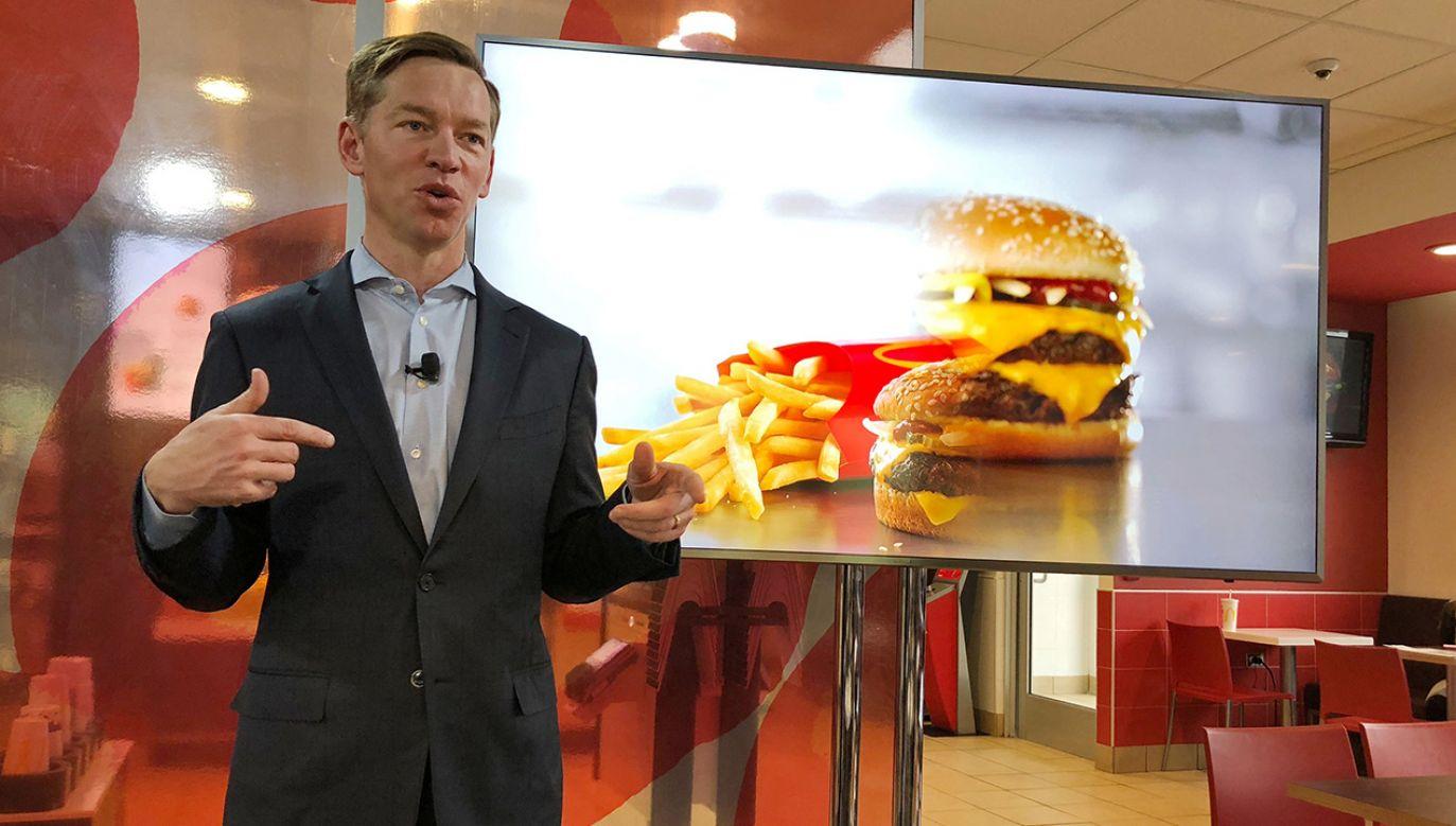 Według amerykańskich mediów Kempczinski ściśle współpracował z dotychczasowym dyrektorem McDonald's (fot. Reuters/Richa Naidu)