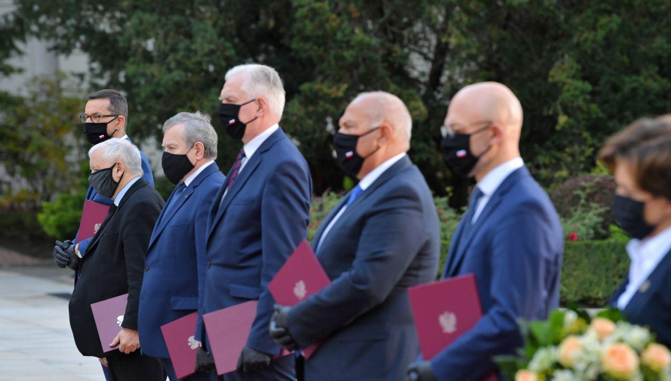 Na wniosek premiera, prezydent dokonał zmian w składzie Rady Ministrów (fot. PAP/Radek Pietruszka)
