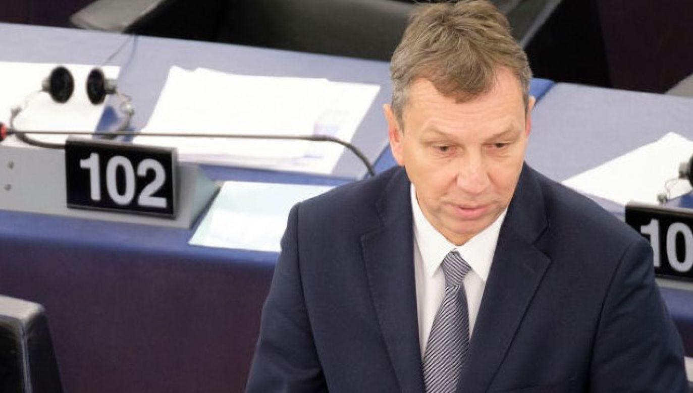Głos za rezolucją zabrał m.in. Andrzej Halicki (fot. Thierry Monasse/Getty Images)