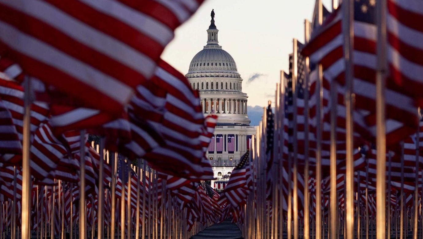 Waszyngton w dniu inauguracji prezydenta Joe Bidena. Fot. REUTERS/Allison Shelley