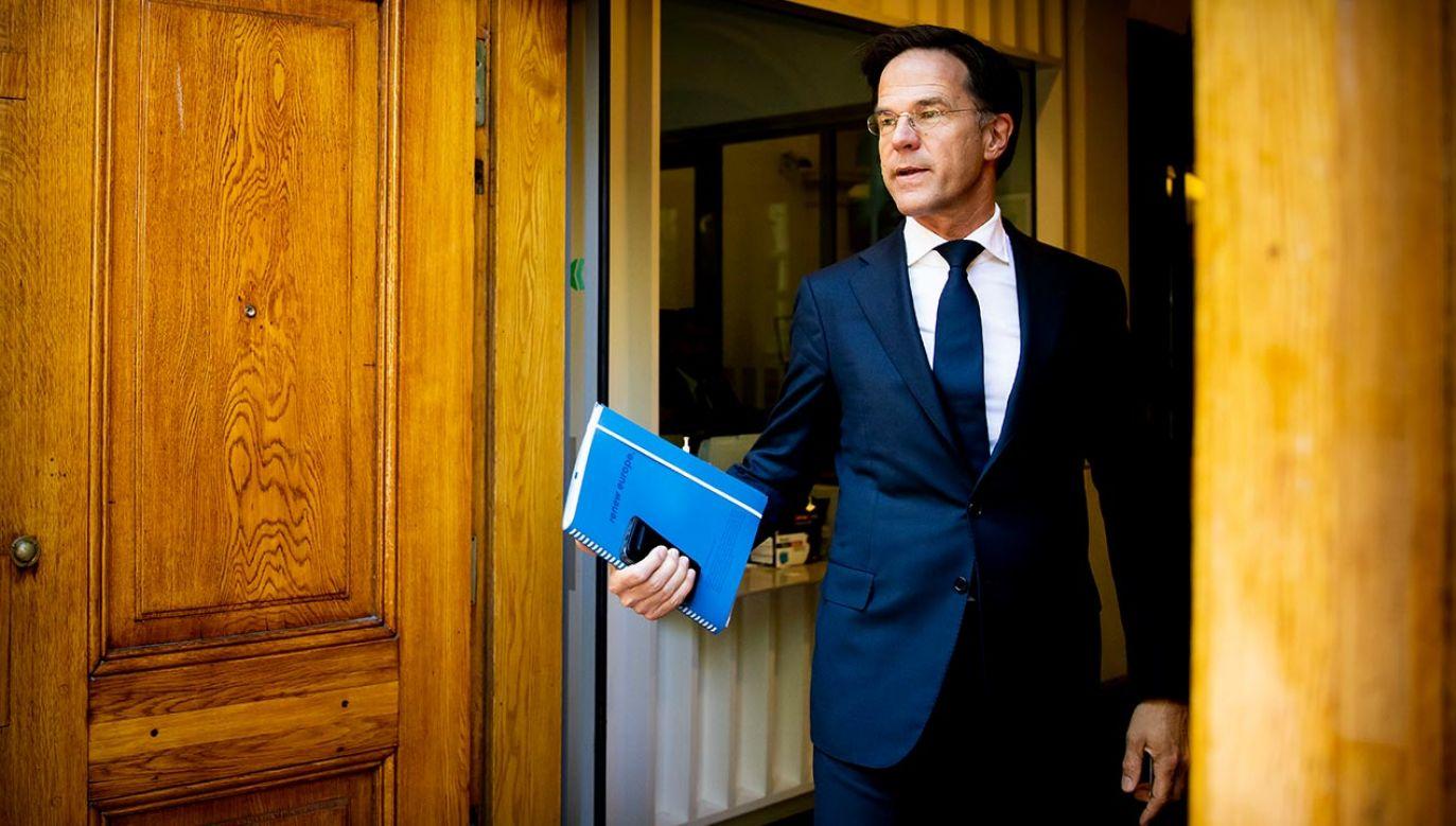 W połowie stycznia rząd Ruttego musiał się podać do dymisji (fot. Patrick van Katwijk/BSR Agency/Getty Images)