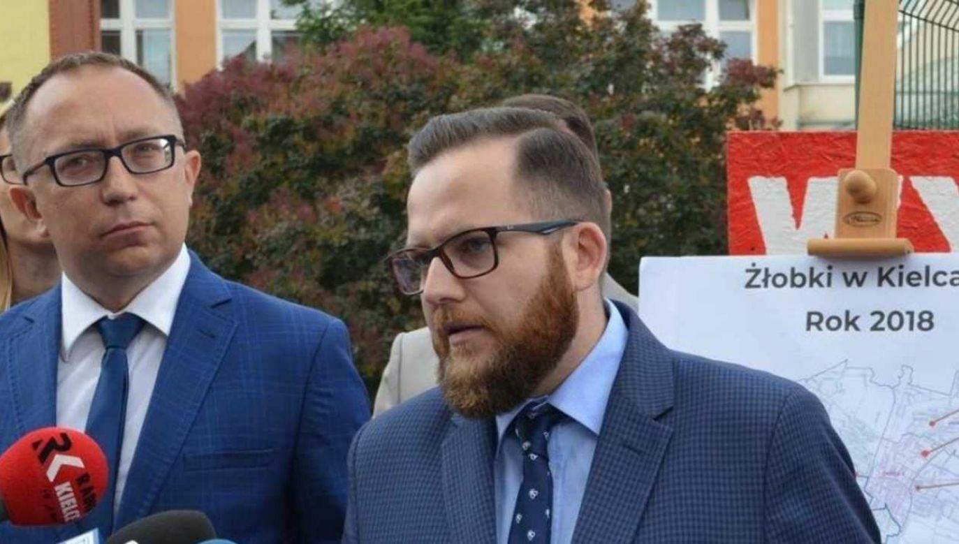 Karol Wilczyński jest radnym KO w Kielcach (fot. FB/Karol Wilczyński)