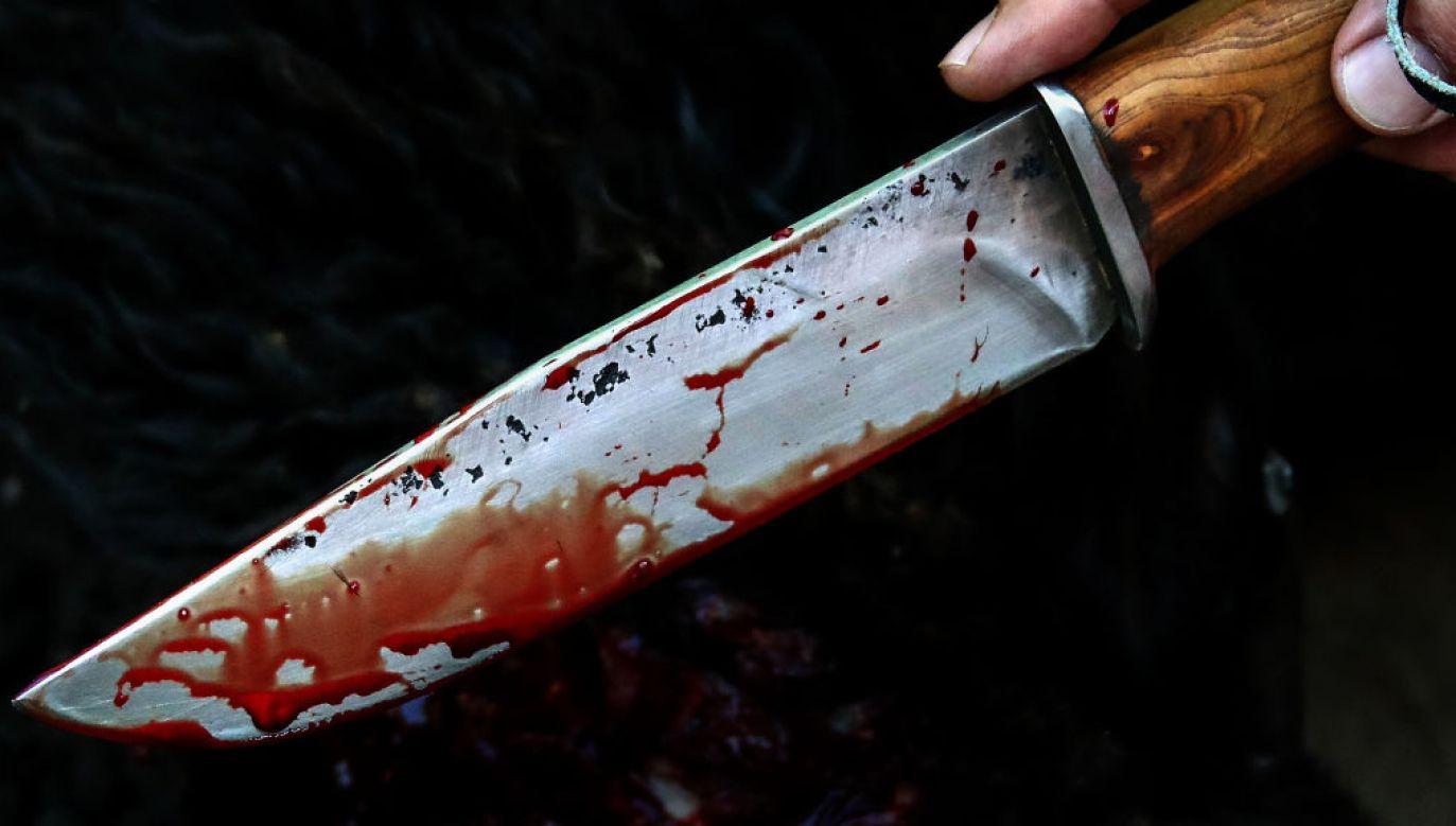 Funkcjonariusze zabezpieczyli nóż, którym matka raniła dziecko (fot. Valery Sharifulin\TASS via Getty Images))