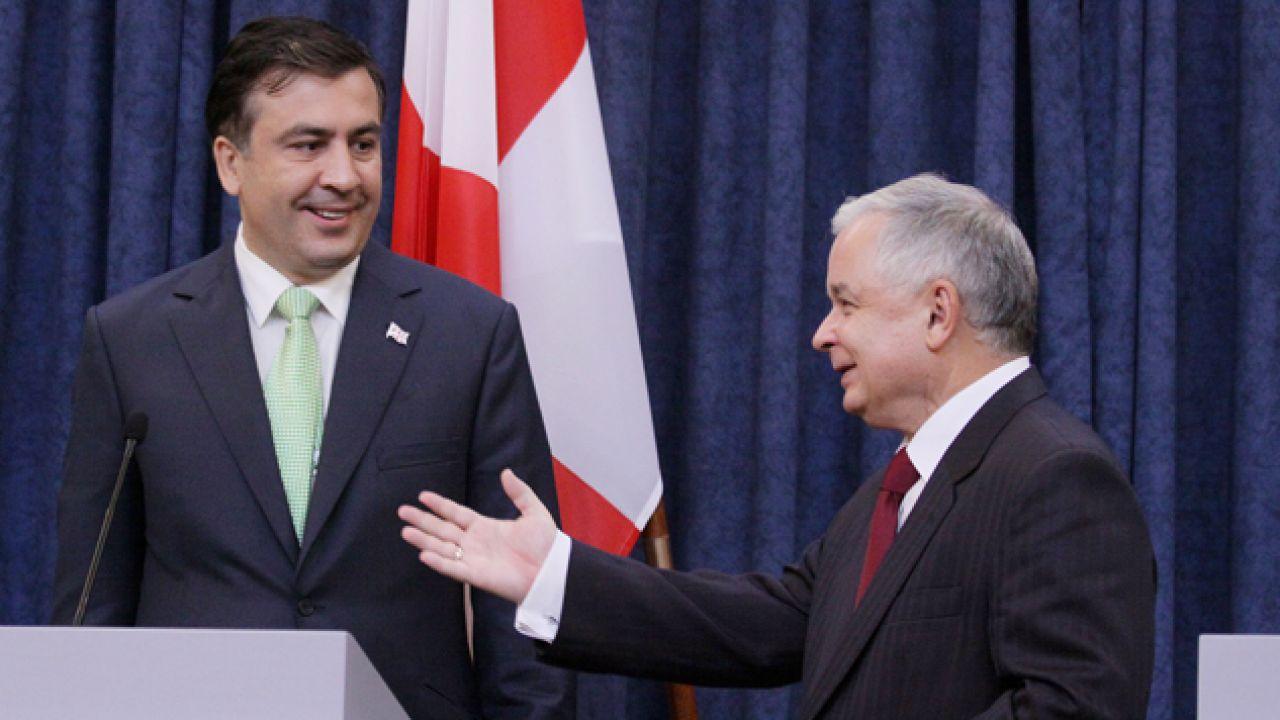 Michaił Saakaszwili bardzo cenił śp. prezydenta Lecha Kaczyńskiego (fot. arch. PAP/Paweł Supernak)