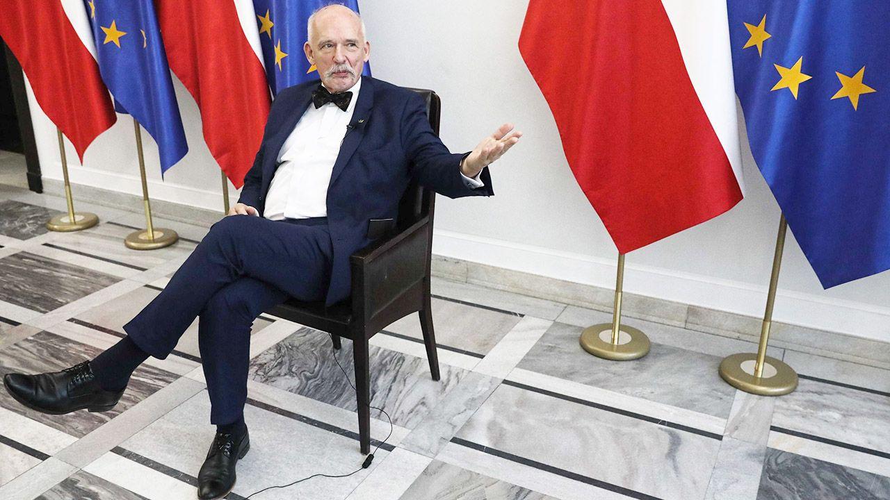 Zdaniem polityka Konfederacji Polska nie jest niezależnym państwem (fot. PAP/Tomasz Gzell)