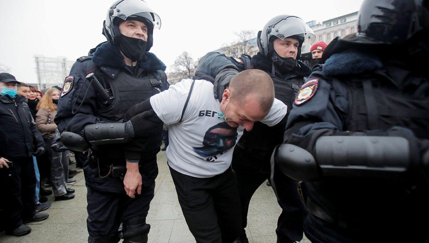 Wśród zatrzymanych jest współpracowniczka opozycjonisty Aleksieja Nawalnego (fot. REUTERS/Maxim Shemetov)