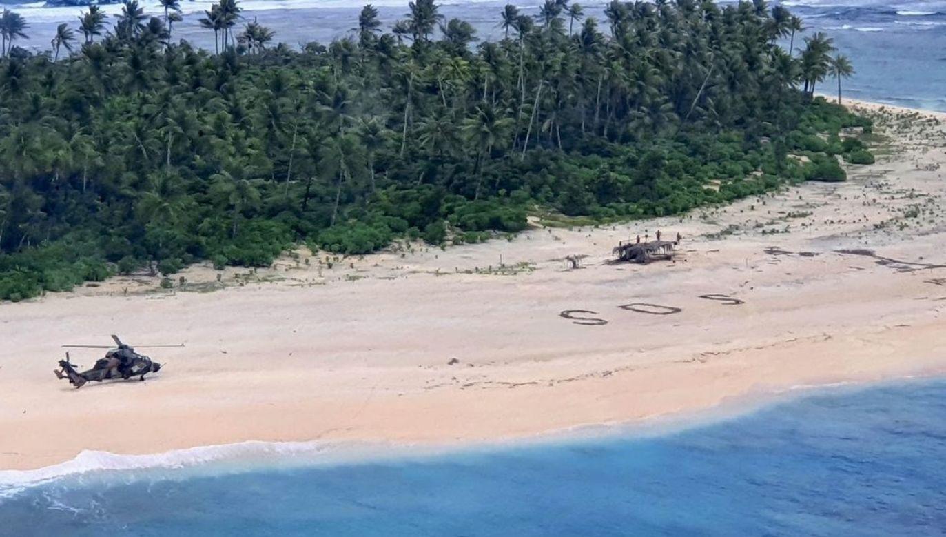 Rozbitkowie zostali odnalezieni ok. 118 mil od miejsca, skąd wyruszyli (fot. Australian Defence Force)
