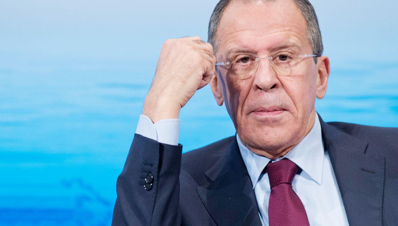 Szef dyplomacji rosyjskiej Siergiej Ławrow (fot. Michael Gottschalk/Photothek via Getty Images)