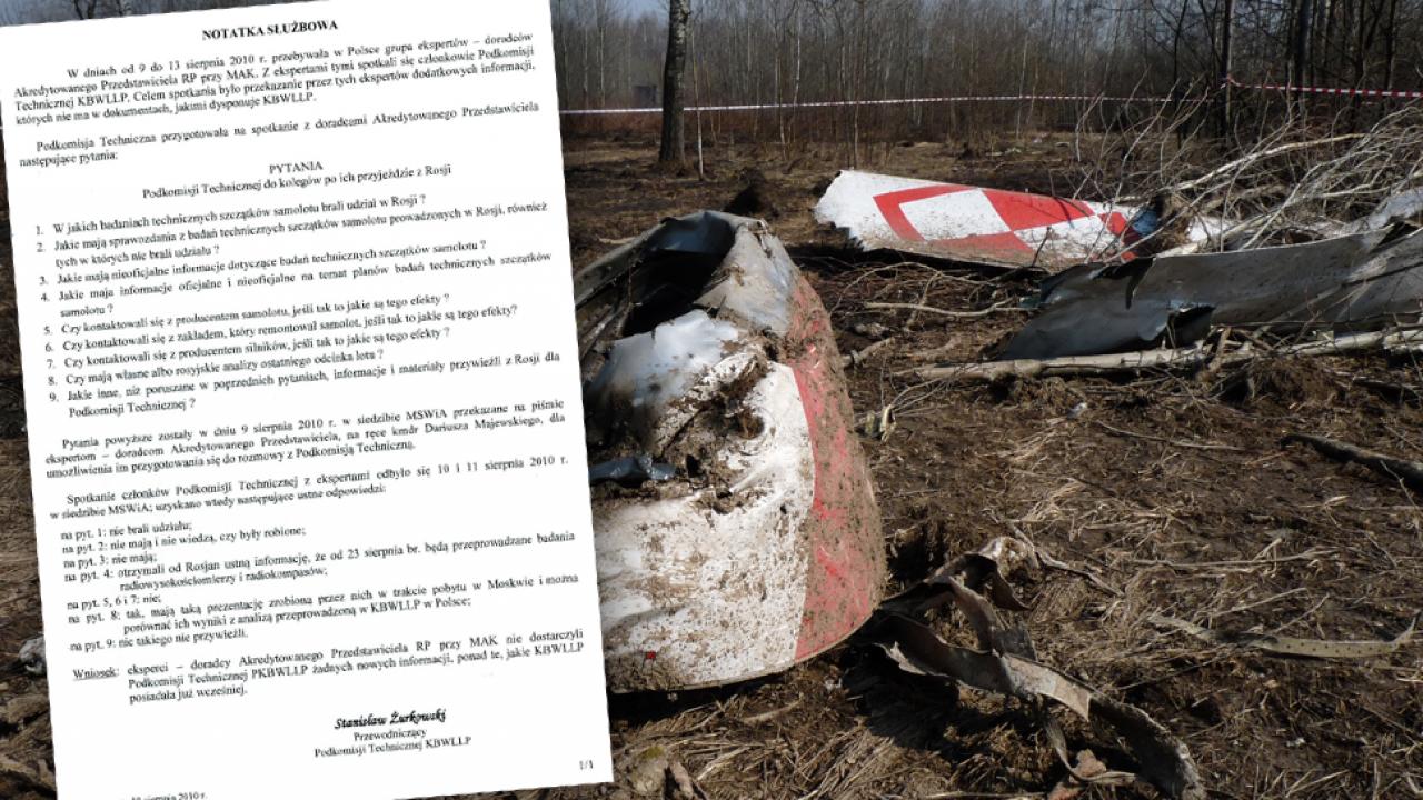 Eksperci przyznają, że nie badali wraku Tu-154 (fot. FaktySmoleńsk.gov.pl)