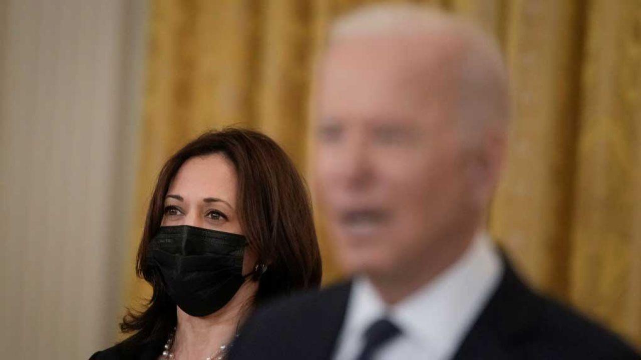 Kamala Harris budzi jeszcze większą nieufność niż Joe Biden – oceniają komentatorzy (fot. Drew Angerer/Getty Images)