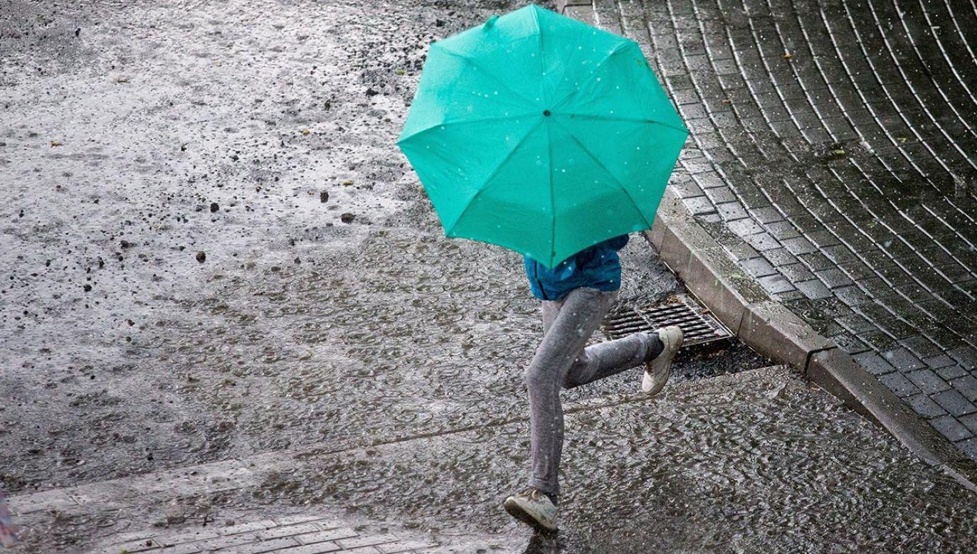 Ma być burzowo, ale  ciepło (fot. PAP/Andrzej Grygiel)