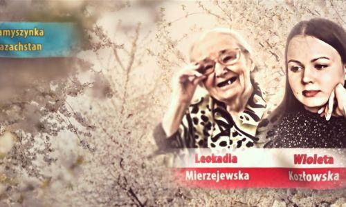 """Leokadia Mierzejewska i jej wnuczka Wioleta Kozłowska. Fot. printscreen/ """"Złączyć się z narodem"""", reż. Jerzy Szkamruk"""