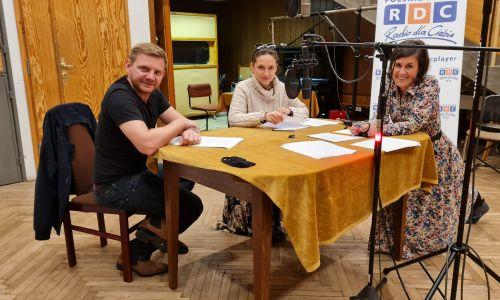 Rafał Zawierucha, Anna Cieślak i Aleksandra Głogowska. Fot. RDC