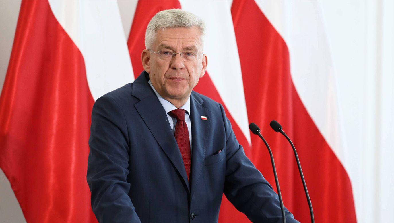 Stanisław Karczewski odniósł się do materiału tvn24.pl (fot. arch. PAP/Tomasz Gzell)