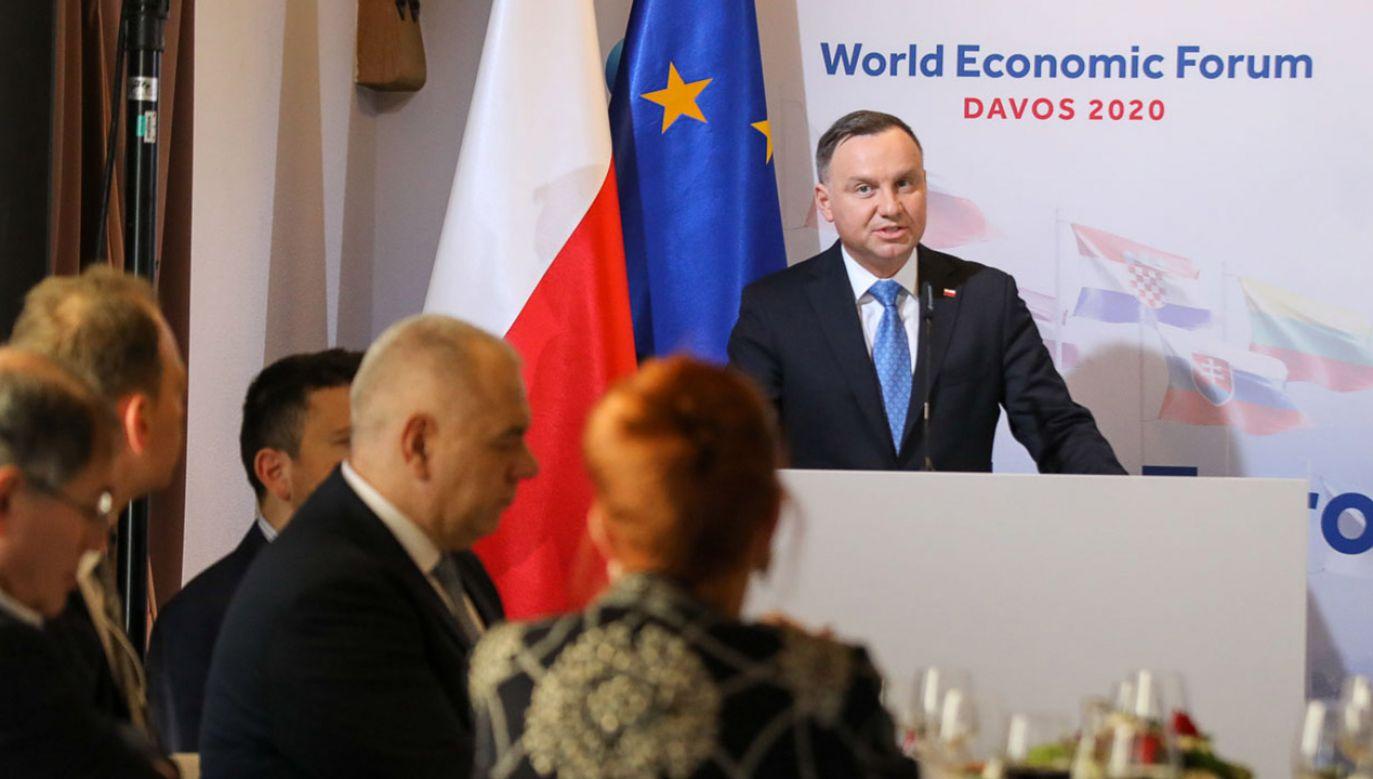 Warszawa jest już hubem technologicznym, ale rola innych miast, w tym Krakowa i Poznania, wzrasta z każdym rokiem – mówił prezydent (fot. Jakub Szymczuk/KPRP)