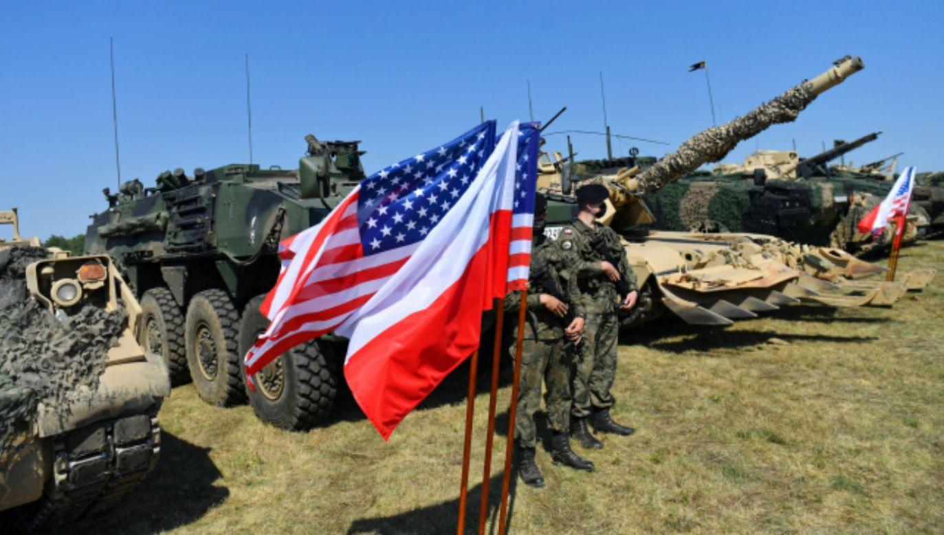 Ćwiczenia polskich i amerykańskich wojsk w ramach drugiej fazy ćwiczenia DEFENDER-Europe 20. (fot. PAP/Marcin Bielecki)