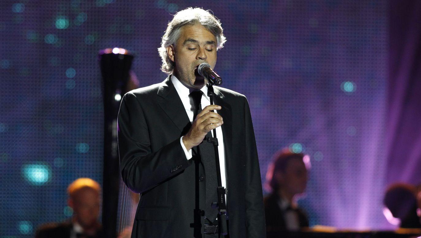 Andrea Bocelli (fot. REUTERS/Sebastien Nogier)