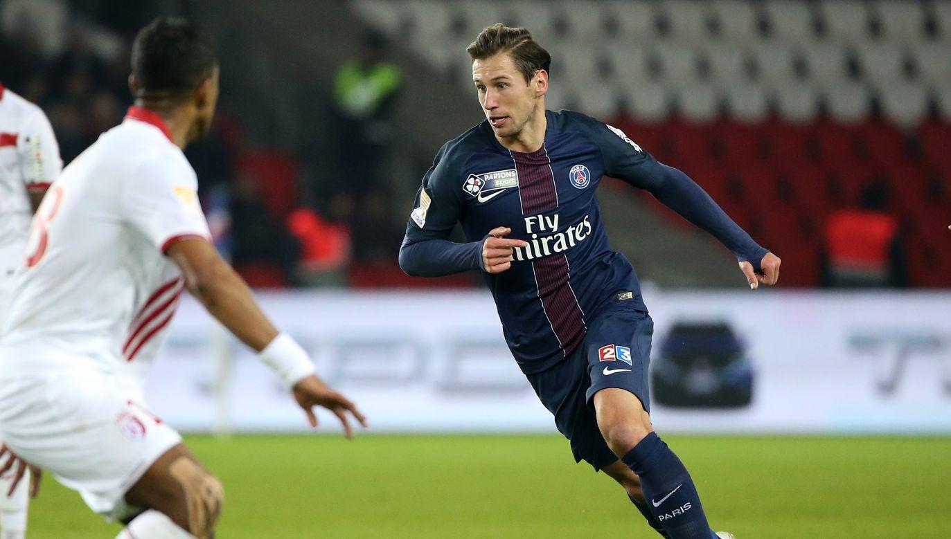Grzegorz Krychowiak w barwach Paris Saint-Germain (fot. Getty)