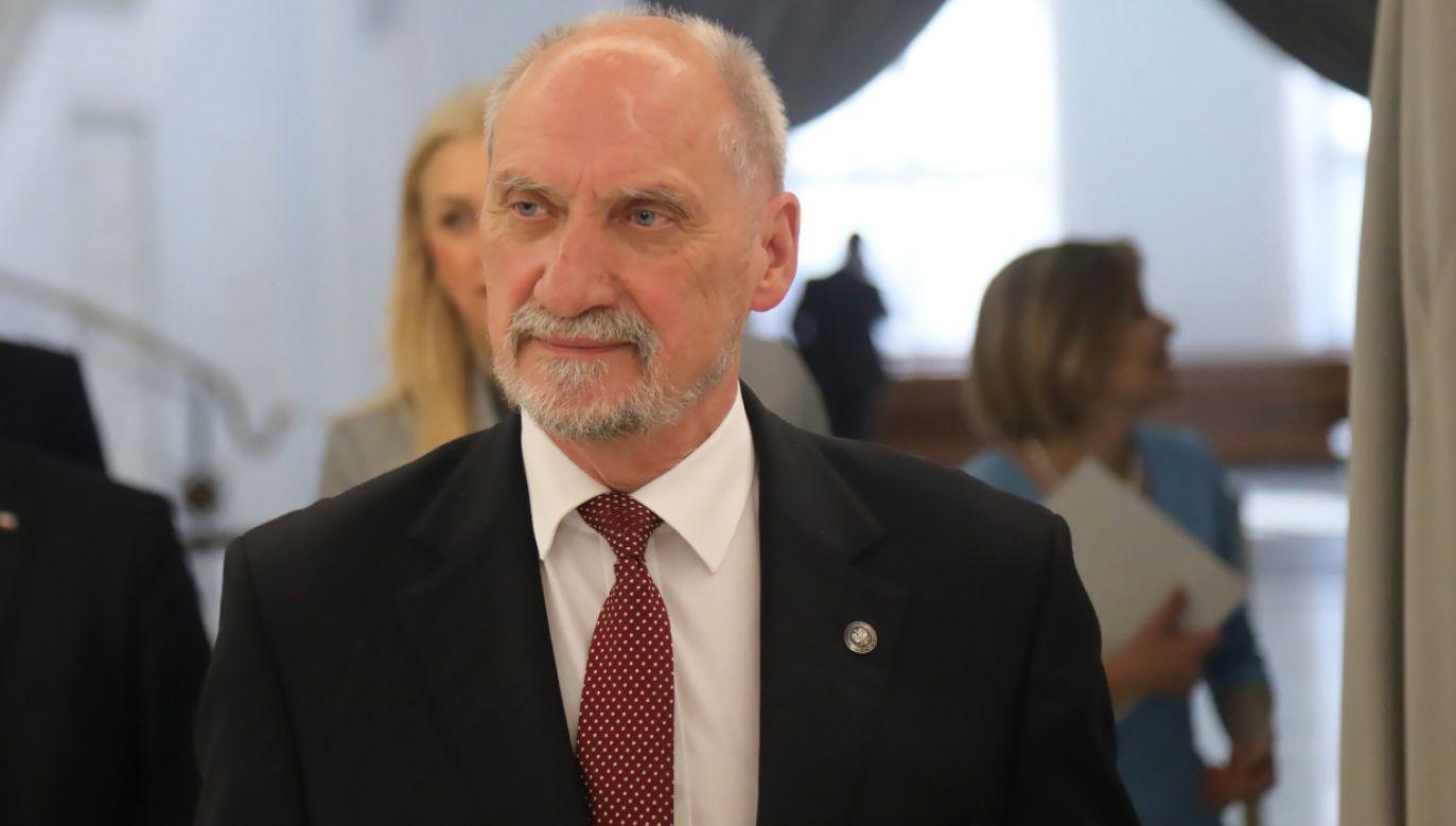 Antoni Macierewicz (fot. PAP/Wojciech Olkuśnik)