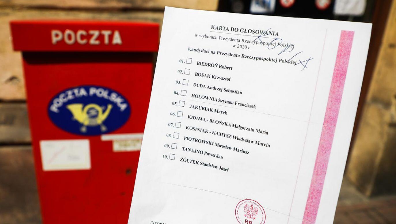 Prezydent Grudziądza, Maciej Glamowski zdecydował o nieudostępnianiu Poczcie Polskiej spisu wyborców (fot.  Beata Zawrzel/NurPhoto via Getty Images)