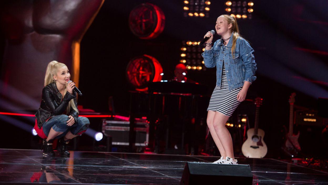 Jednak gdy tylko wyluzowała, wspólnie z Trenerką brawurowo wykonała utwór Alicii Keys i od razu otrzymała zaproszenie do następnej edycji programu (fot. J. Bogacz/TVP)