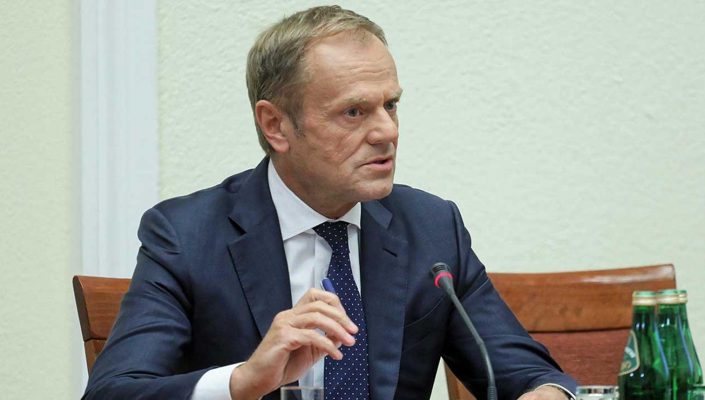 Donald Tusk przed komisją ds. VAT (fot. PAP/Paweł Supernak)
