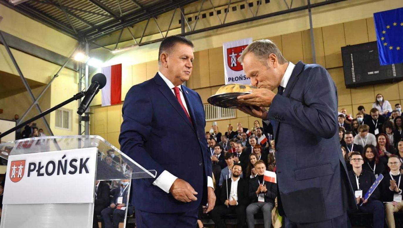 Donald Tusk na konwencji PO (fot. Platforma Obywatelska)