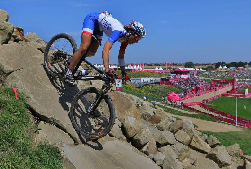 Julie Bresset okazała się najlepsza w rywalizacji w cross country (fot.PAP)