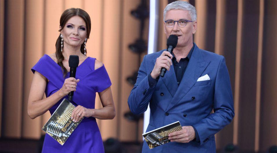 Koncert Premier poprowadził duet Agata Konarska i Artur Orzech (fot. J. Bogacz/TVP)
