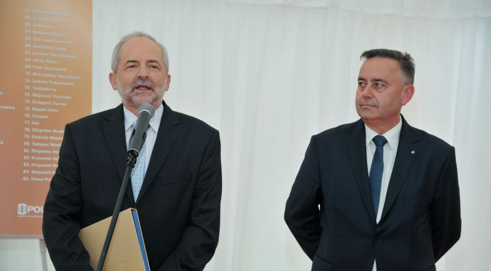 Nagrody wręczali prezes TVP Juliusz Braun i wiceprezydent Opola Krzysztof Kawałko (fot. Ireneusz Sobieszczuk/TVP)