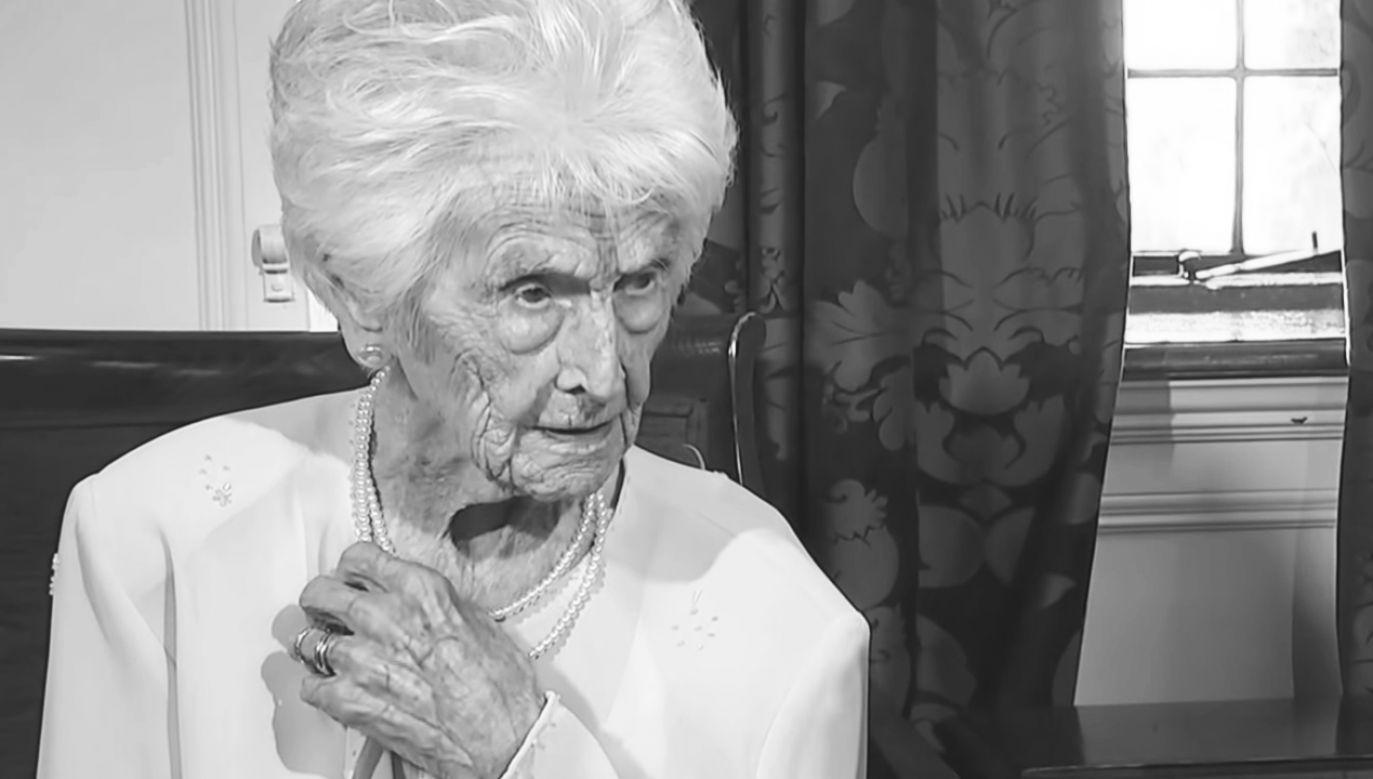 Grace Jones, zmarła w wieku 112 lat (fot. YT/ITV News)