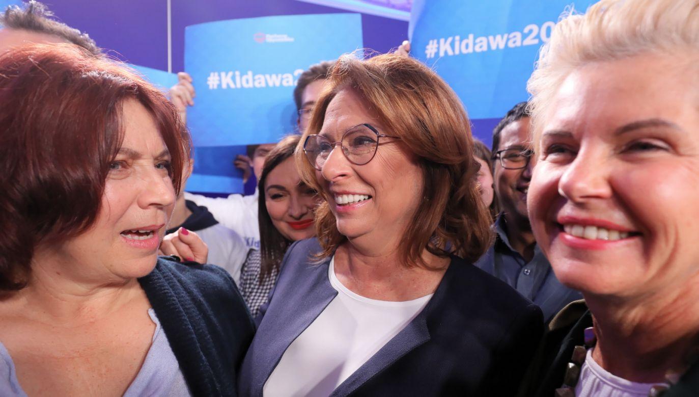 Małgorzata Kidawa-Błońska podczas debaty kandydatów PO nie potrafiła nawet wskazać celu pierwszej podróży, gdyby została prezydentem (fot. PAP/Paweł Supernak)