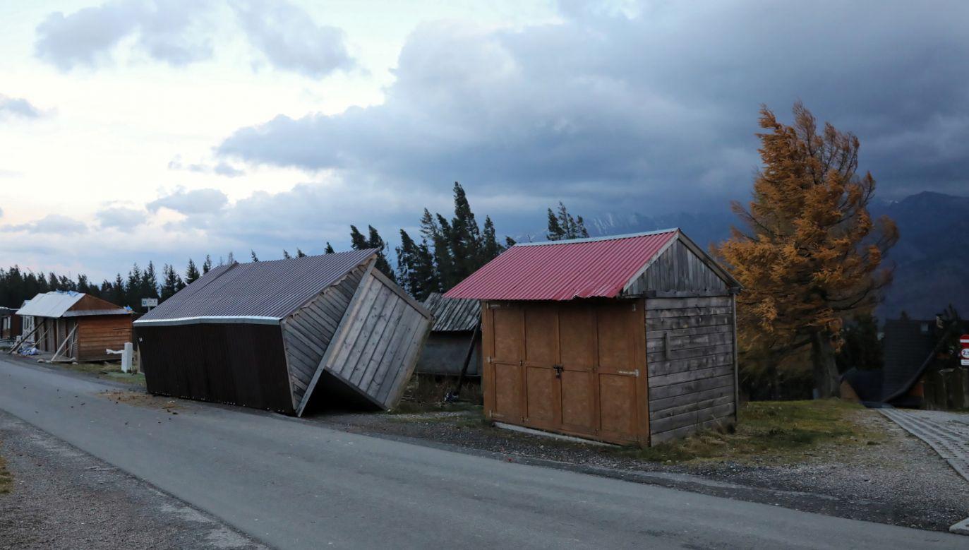 Wiatr w ostatnich dniach dawał się we znaki na południu kraju; na zdjęciu okolice Gubałówki (fot. PAP/Grzegorz Momot)
