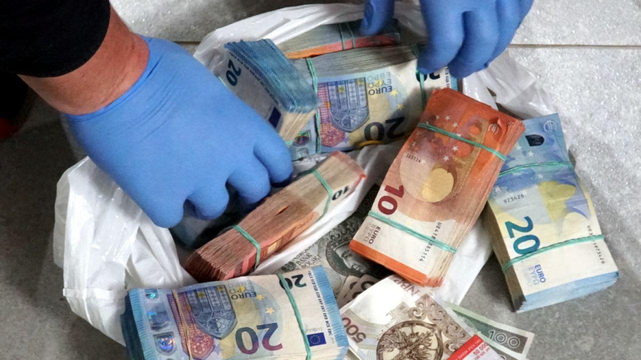 Gotówka najprawdopodobniej była zapłatą za dostawę narkotyków (fot. europol, zdjęcie ilustracyjne)