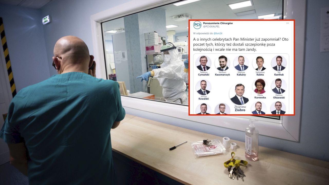 Szczepienia poza kolejnością? Porozumienie Chirurgów oskarżyło 18 polityków (fot. PAP/EPA/MASSIMO PERCOSSI)