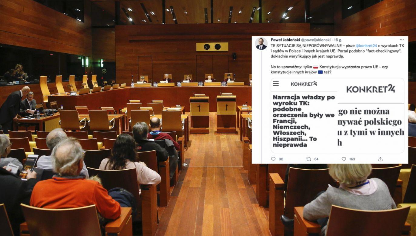 Trybunał Sprawiedliwości Unii Europejskiej (fot. EPA/JULIEN WARNAND, PAP/EPA, twitter.com/paweljablonski)