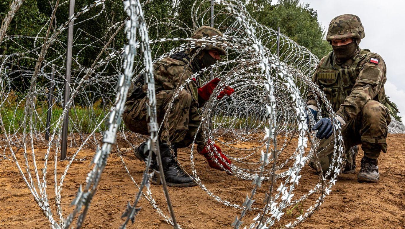 Czy przy granicy pojawią się funkcjonariusze Frontexu? (fot. Dominika Zarzycka/NurPhoto/Getty Images)