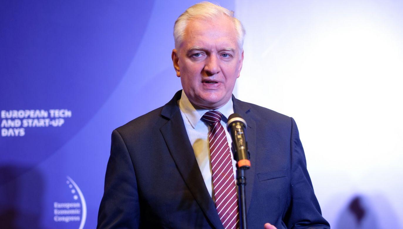 Prezes Porozumienia Jarosław Gowin (fot. PAP/Andrzej Grygiel)