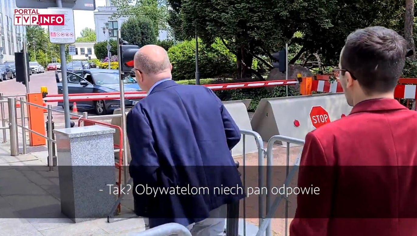 Kropiwnicki zaczął atakować dziennikarza oraz media publiczne (fot. portal tvp.info)